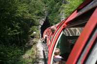 Rothorn train entering Tunnel