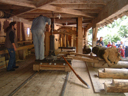 Hydro power saw mill