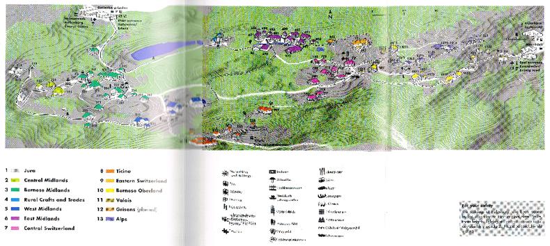 Ballenberg Guide map