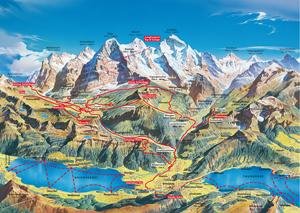 Junfraupass Map