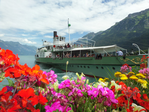 Loeschberg Steamer on Lake Brienz